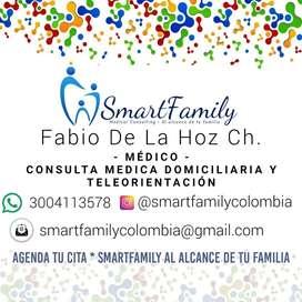 Consulta médica domiciliaria y Teleorientación