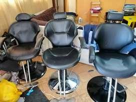Vendo 3 sillas de peluqueria