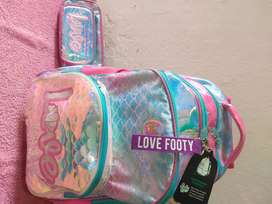 Mochila Carro Footy Love Sirena Luz Led 18 P Sharif Express