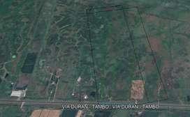 Terreno de venta 142.355 m2 Vía Durán – Tambo, km 13
