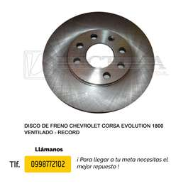 DISCO DE FRENO CHEVROLET CORSA EVOLUTION 1.6-1.8