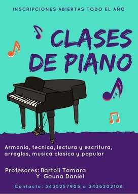 Clases de Piano Particulares.