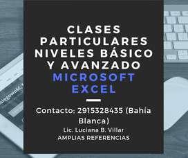 CLASES PARTICULARES DE EXCEL.