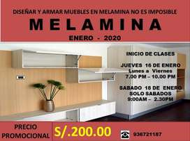 CURSO DE MELAMINA - SOLO SABADOS