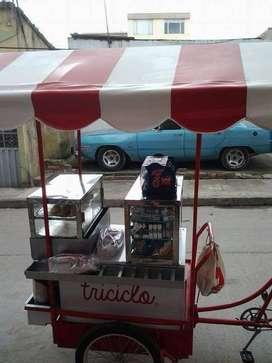 Se vende triciclo para venta de tintos