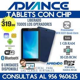 Tablet con doble chip Advance