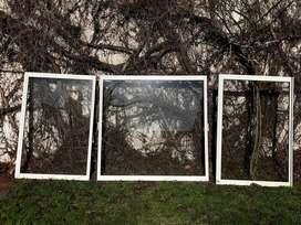 Hojas de ventana de aluminio horizontales de vidrio simple