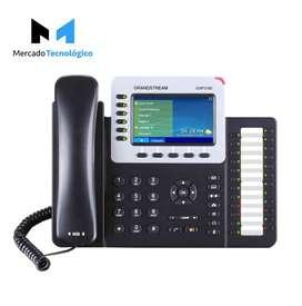 TELEFONO IP LCD 6 LINEAS PUERTO GIGABIT POE - GRANDSTREAM