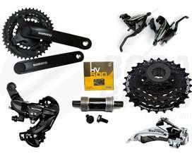 Grupo Kit Transmision Shimano 21 Velocidades Tourney Palanca