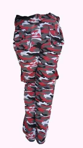 pantalones camuflados hombre y dama x mayor y detal