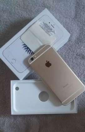IPHONE 6 32 GB LITE DORADO-NEGOCIABLE