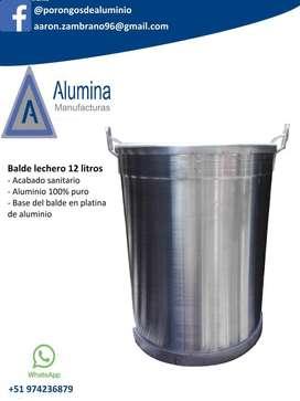 Balde Lechero, Porongos de Aluminio