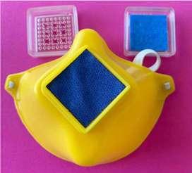 Tapabocas respirados en PVC con filtros intercambiables
