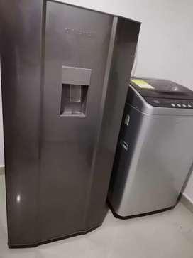 Vendo lavadora y nevera como nuevas