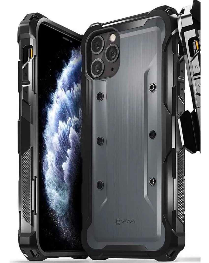 Forro Estuche Heavy Duty Vena Varmor Militar iPhone Pro Max