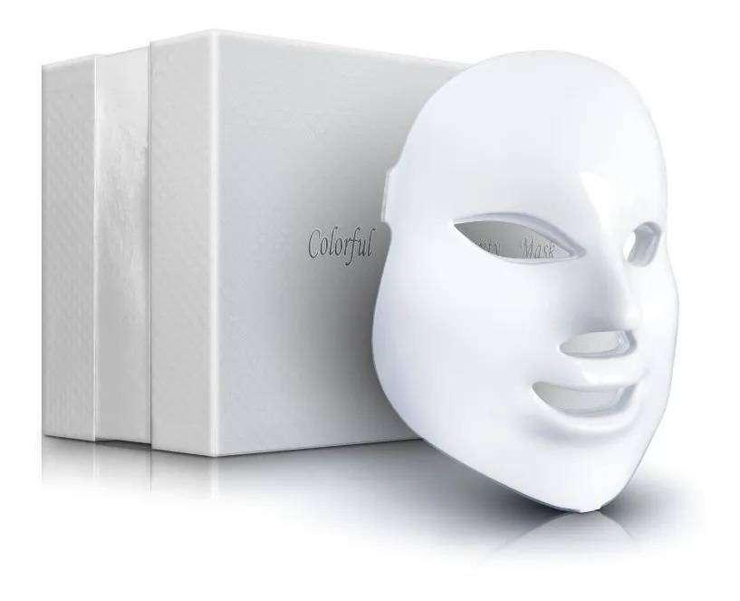 NUEVO Mascara Fototerapia Facial Led 7 Colores Rejuvenecimiento - Mejora tu rostro, Luz multibeneficios