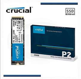 Disco solido SSD M2 250gb crucial