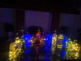 Lamparas Led de botellas de vidrio