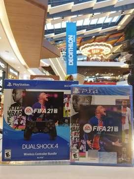 CONTROL ORIGINAL NEGRO + FIFA 21 PLAYSTATION4/PS4