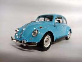 Volkswagen azul escala 1:24