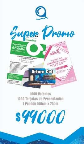 Promocion Publicidad, pendones, volantes, tarjetas de presentacion