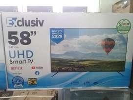 "Tv de 58"" esclusiv smartv 4k"