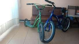 Vendo bicicleta Junior y Patineta Junior usadas