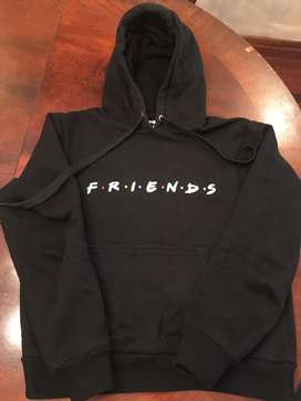 "Buzo negro unisex  logo "" friends"""