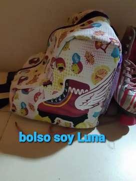 Vendo patines y bolso soy Luna