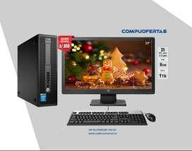 HP ELITEDESK 800G1 CORE I5 3.2 CON LED 22