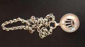 Cadena de plata 925 con dije de plata y nacar (nuevos)