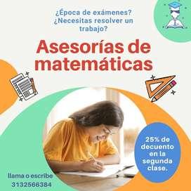 Asesorías y trabajos de matemáticas
