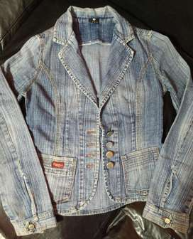 Campera Jeans Talle 2 de Mujer Tipo Saco