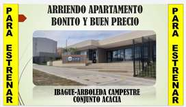ARRIENDO APARTAMENTO EN IBAGUE-ARBOLEDA CAMPESTRE-EXCELENTE UBICACIÓN