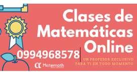 Clases de Matemática Online