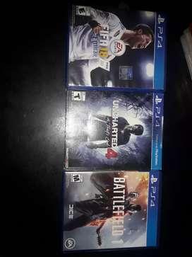 Vendo juegos ps4 o cambio