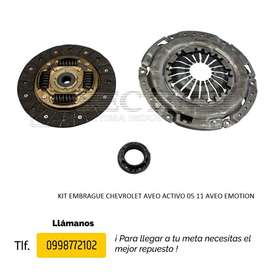 KIT EMBRAGUE CHEVROLET AVEO FAMILY, CHEVY TAXI