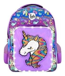 Mochila unicornio lila footy