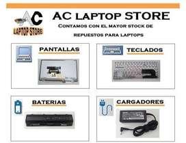 Teclados Para laptop portatil pantallas cargadores baterías carcasas.