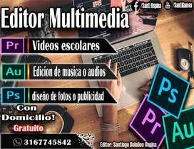 Editor multimedia - Fotos - vídeos - canciones o audios de voz