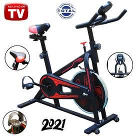 Bicicleta estática. Spinning gimnasio, eliptica, ajustable, sports. Modelo 2021.