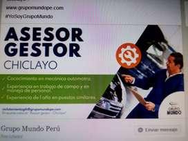ASESOR GESTOR -CHICLAYO