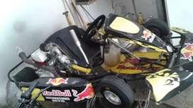 Vendo o permuto karting vara 2012 2 bancadas motor guerrero 110 con los papeles correspondientes