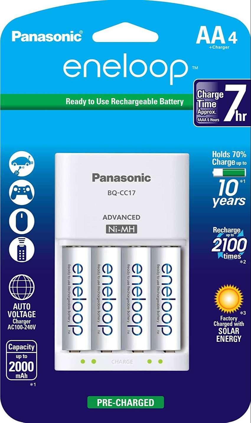 Baterias Eneloop Panasonic Sanyo 4aa+cargador.  Made in Japan