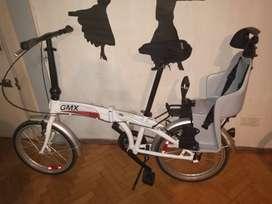 Bicicleta plegable usada