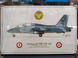 41 X 26 Pintura Avion Aermacchi 339 Peru Sukhoi Auto Tanque