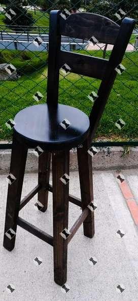 Butacon silla alta butaca nuevas en pino