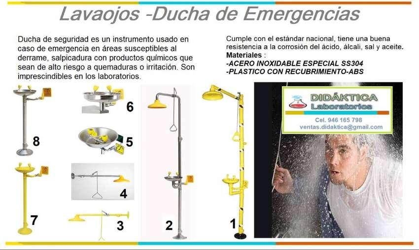 DUCHA DE EMERGENCIA-LAVAOJOS-DIDKATICA LABORAOTRIOS 0