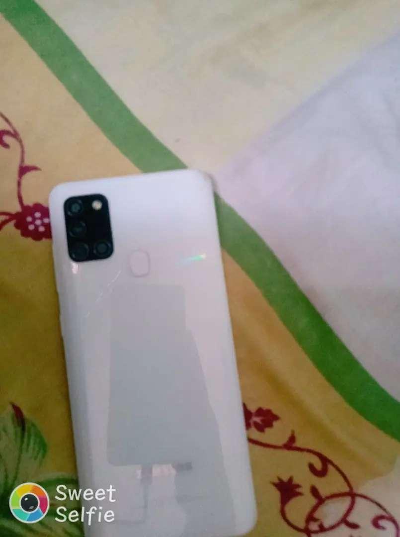 Samsung a21s de 64gb una semana d uso flamante color blanco 0