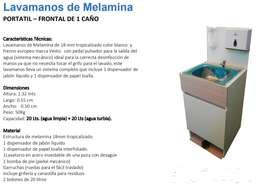 lavamanos de melamina  portatil